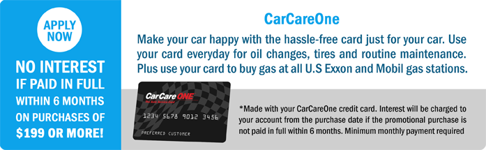 Car Care One for Brake Repair and Oil Changes