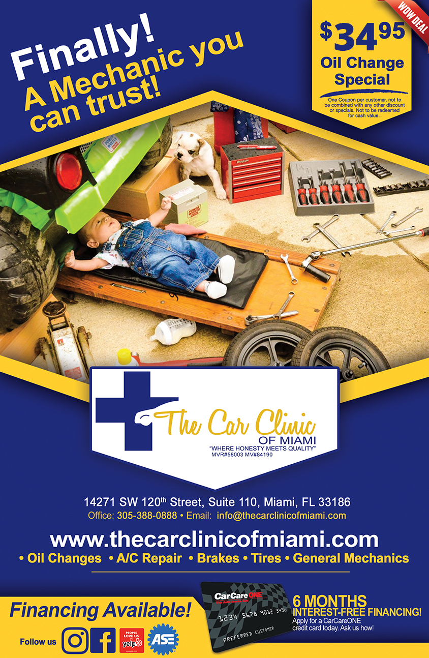 Online Specials The Car Clinic Of Miami